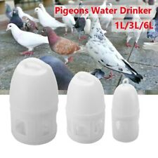 Bird Pigeons Feeder Food Water Drinker With Handle Plastic Container 1L/3L/6L