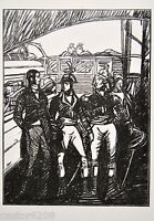 BOIS gravé 2 GASPERINI 1927 dessin DETHOMAS illust. Clio Anatole France vélin