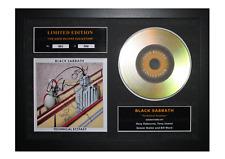 More details for black sabbath gold disc album ltd edition framed picture memorabilia