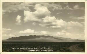 Frashers RPPC; Mojave Desert Clouds near Barstow CA, San Bernardino Co. 1930's