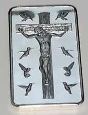 Jesus 10 Commandments Silver Bar Ingot Easter Angels Birds Prayer God Bless You