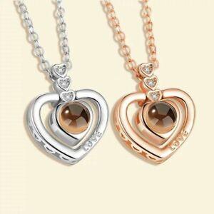 100 Sprachen Ich liebe dich I LOVE YOU Halskette Damen Romantisch Valentinstag