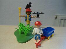 """Playmobil Bauernhof Set 3823  """"Vogelscheuche""""  gebraucht"""