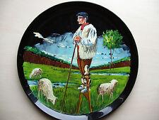 décoration vintage assiette porcelaine peinture travail artisanal fait main