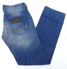 Wrangler Crank Herren Jeans Hose 33/34 W33 L34 Denim stonewashed Blau TOP C702