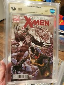 Wolverine and the X-Men 4 CBCS 2x signed 9.6 Venom Variant 2012 Marvel RARE HTF