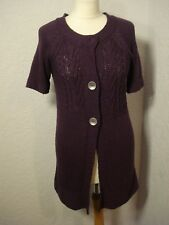 M&S grape purple long tunic cardigan 10