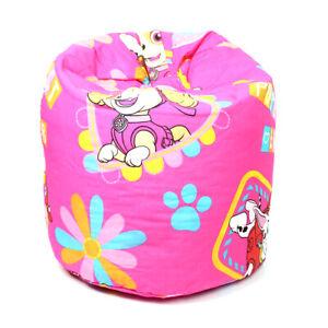Kids Pink Nickelodeon's Paw Patrol Bean Bag Children Girls Seat Chair
