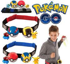 Lovely Pokemon Clip on Carry Kids Adjustable Poke Ball Belt Pretend Play Game