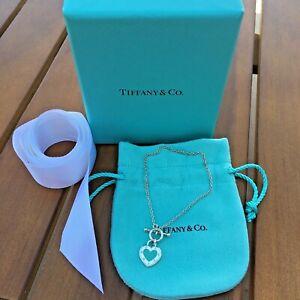 Tiffany & Company Return To Tiffany Blue Heart Love Sterling Toggle Bracelet