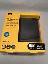 WD My Passport for Mac External Hard Drive 500GB - Black (WDBAAB5000ACH-NESN)