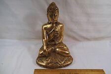 "Thai Thailand Burmese Burma Carved Gilt Wood Statue of Buddha 10"""