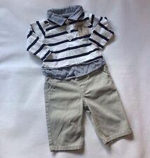 Bebé Chicos 3-6 meses primeros días Manga Larga Camiseta + Pantalones Traje de próxima Gris