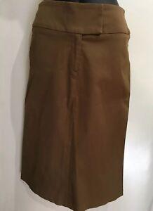 Rare Cooper St Designer Fashion Vintage Retro Look Brown Tan Pencil Skirt Sz 10