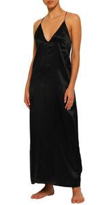 CALVIN KLEIN BLACK SLEEPWEAR Silk Satin Slip Dress BNWT