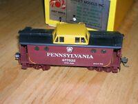 Vintage brass HO gauge Sunset Models PRR N5C caboose cabin car custom painted