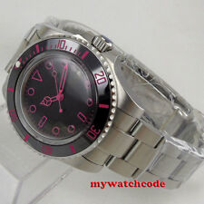 40mm BLIGER black dial Ceramic Bezel sapphire glass automatic mens watch B157