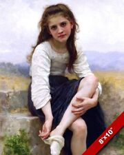 YOUNG GIRL BEFORE THE BATH FRENCH OIL PAINTING ART REAL CANVAS GICLEEPRINT