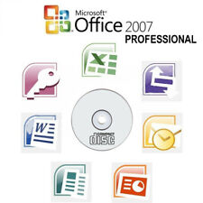 Microsoft Office 2007 Professional Cd Full Version Word Excel Powerpoint 10 Pc's