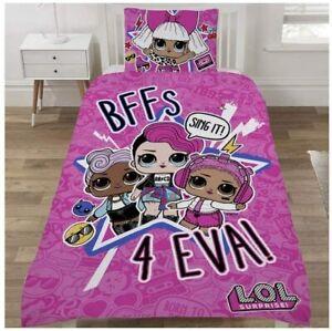 LOL Surprise SING IT Single Bedding Set Duvet Quilt Cover Reversible Set  Pink