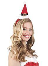 Weihnachtsmütze Weihnachtsfrau Haarreif Mini Nikolausmütze für Weihnachten KK