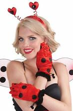Ladybug Gloves Insect Animal Fancy Dress Up Halloween Adult Costume Accessory
