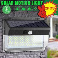 2pack LED Solar PowerPIR Motion Sensor Garden Wall Light Security Flood Outdoor