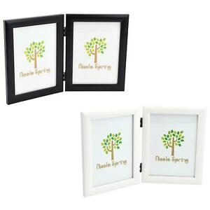 Double Photo Frame Picture Frames Folding Standing Hinged Portrait Display