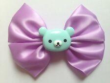 Bleu Pastel Violet Rilakkuma Hair Bow San-X Kawaii Fairy Kei Harajuku