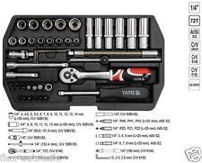 """Yato Werkzeugkoffer Set 42tlg Toolbox Ratsche Steckschlüssel 1/4"""" Nüsse Bits"""