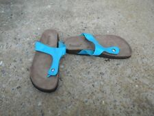 Women's BJORNDAL  JOHNA US 8 Thong/ Filp flop Bright Blue Leather Sock  sandals