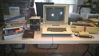 Vintage 1982 Apple II Plus Computer Monitor Floppy Drives Printer Joystick Etc