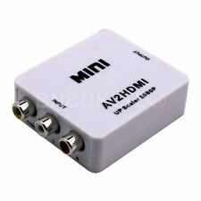 Mini Composite AV CVBS 3RCA to HDMI Video Adapter Converter Up Scaler 720P 1080P