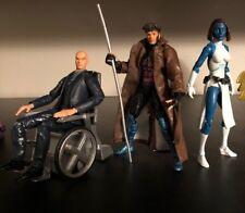 Marvel Legends X-Men lot Gambit, Professor X, & Mystique with sentinel base