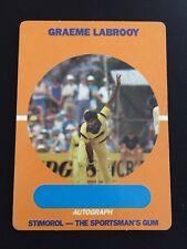 1989 1990 Scanlens Stimorol Cricket World Series Card #29 Graeme Labrooy