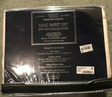 Devon Collection-Luxury Sateen 900 TC King Sheet set  Cream New in Package