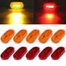 "10x Red/Amber RV Light 6LED Clearance Trailer 4"" x 2"" Side Marker Waterproof 12V"