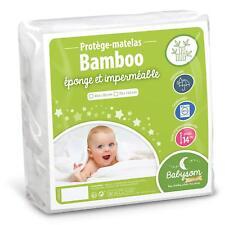 Babysom - Protège Matelas/Alèse Bébé - Bamboo - 60x120 cm - Imperméable - Doux e