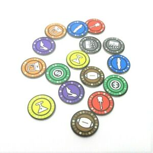 2013 Say Anything Game Replacement Part Pieces - Complete Set 16 Player Tokens