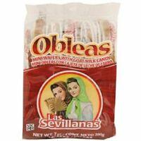 Las Sevillanas Mini Obleas with Cajeta (20 Wafers with Goat's Milk Candy)