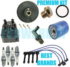 Complete Tune Up Kit Cap Rotor NGK Wires Plug PCV for Honda CRX Si; 1.6L 1988-91