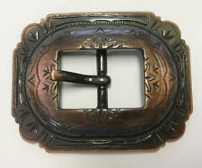 """WESTERN HORSE HEADSTALL BRIDLE COPPER ENGRAVED CART BUCKLE FITS 3/4"""" WIDE BELT"""