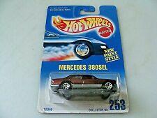 MERCEDES 380 SEL - COLLECTOR 253 - HOT WHEELS 1991 - 1:64 DIECSAT CAR - DEEP RED