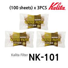 [Kalita] Paper Coffee Filter NK101 (100 sheets)x3PCS (1-2 Cups) Hand Drip Filter