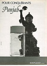 PUBLICITE ADVERTISING 024   1980   CAPUCCI   parfum PUNJAB eau de toilette