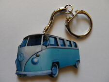 FUNKY LIGHT BLUE VW CAMPER VAN KEYRING. NEW. KEY RING