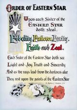 Antique Order of the Eastern Star poem print ring art poster OES Masonic 8.5x11