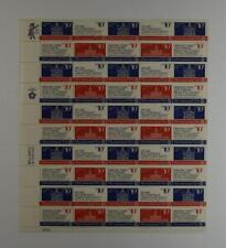 Us Scott 1543 - 46 Pane Of 50 Bicentennial Era Stamps 10 Cent Face Mnh