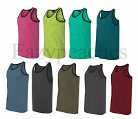 Burnside - Injected Slub Tank Top, Heathered T-shirts, Gym, Beach, Sport, S-3XL