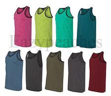 Burnside - Injected Slub Tank Top, Heathered T-shirts, Gym, Beach, Sport, S-3XL